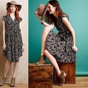 Anthropologie MAEVE NORONHA BLACK Elephant Dress